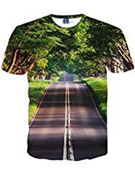 Verano Moda Tendencia Impresión Patrón Casual Chaqueta de Manga Corta 's Camisa 3d de Gran Tama?o Casual Camiseta,Figura,XXL