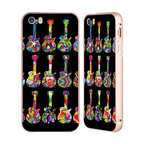 Ufficiale Howie Green Sassofono Strumenti Musicali Oro Cover Contorno con Bumper in Alluminio per Apple iPhone 5 / 5s / SE Pop Art Chitarre