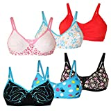 #8: lime fashion of 6 bras combo for women's