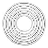 PME PNR5 Lot de 6 Emporte Pièces Ronds, Plastique, Blanc, 12.6 x 1 x 12.6 cm PNR5