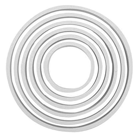 PME 6pk ROUND Circle Plastic Cut Out Icing Fondant Cutters Sugarcraft Cake Dec