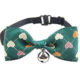 Urijk Hunde Halsband Kragen Haustier mit Schmetterlingknoten Kragen Mini Glocken Halsband für Hunde, Welpen, Katzen, Chihuahua Yorkie