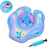 Waitiee Flotadores para bebés Inflable de Piscina Nadar Anillo para Bebe,Flotador ajustable inflable para bebé de tres meses a 6 años de edad (L, purple)
