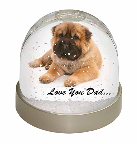 Pei Dome (Bär Coat Shar-Pei 'Love You Dad' Schneekugel Globus Wasserball Tier Weihnachtsge)