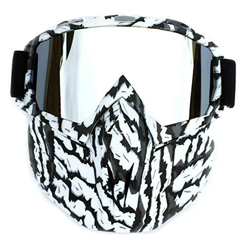 Aeici Sportbrille PC Radbrille Herren Polarisationsbrille für Brillenträger Silber