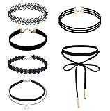 Rosennie 6 Stück Halsband Strecken Samt gotisch Tätowierung Spitze Halskette