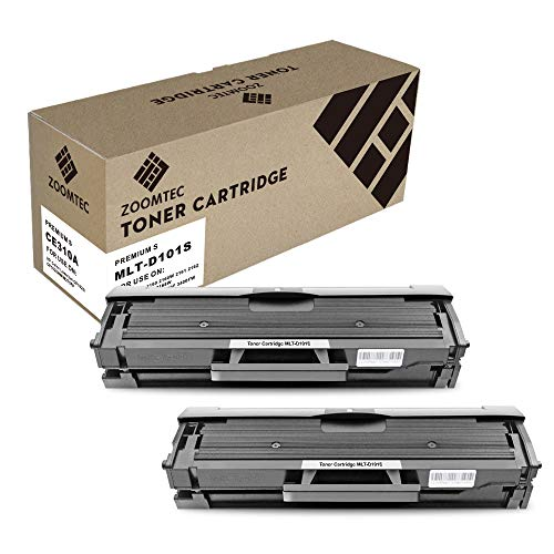 ZOOMTEC Compatible MLT-D101S Cartouche Toner Compatible pour Samsung ML-2160, ML-2161, ML-2162, ML-2165, ML-2165 W, ML-2168, SCX-3400, SCX-3400 F, SCX-3405, SCX-3405 F, SCX-3405FW, SCX-3405 W(2 Noir)