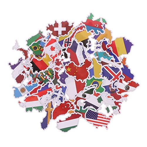 JAGENIE 50X Banderas Nacionales Pegatinas Juguetes