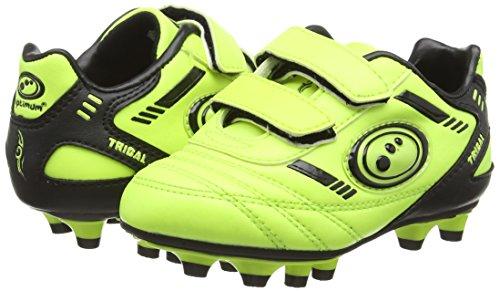 Optimum Tribal Velcro Moulded, Jungen Fußballschuhe Gelb (Yellow/Black)