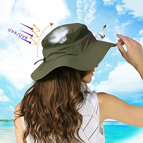 Homeofying Outdoor Angeln Sonnenschutz Atmungsaktives Mesh Wide Brim Bucket Hat Boonie Cap Für Frauen Männer Rosa