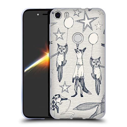 Head Case Designs Offizielle Sharon Turner Fuchs 2 Tiere Soft Gel Hülle für Alcatel Idol 5