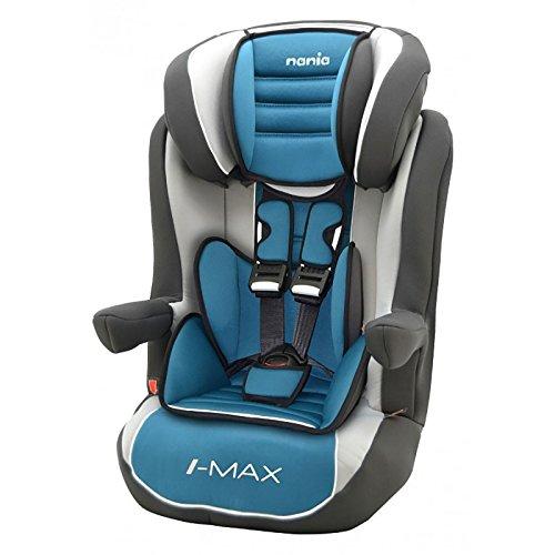 Sitzerhöhung mit Geschirr Isofix - gruppen 1/2/3 - IMAX - 4 farben - Pétrole