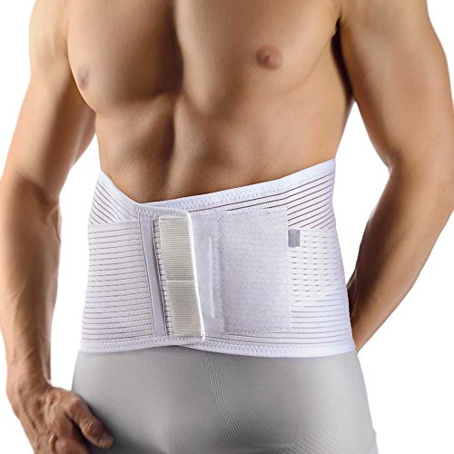 Bort VarioBasic Rückenbandage Pelotte Lendenwirbel Stütze Rücken Bandage, weiss, XL