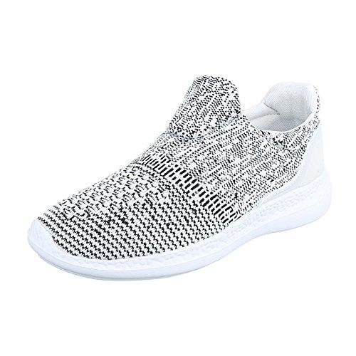 Slipper Damenschuhe Herrenschuhe Leichte Unisex Sneakers Ital-Design Halbschuhe Weiß Schwarz