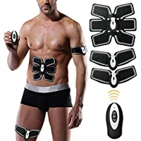 Weijin Electroestimulador Muscular Abdominales, Masajeador Eléctrico Cinturón EMS Ejercitador del Cuerpo de los Músculos de Brazos y piernas