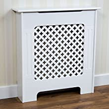 Vida Designs Oxford Radiator Cover White Traditional Painted MDF Cabinet, Small