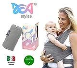 Fascia Porta Bambino New 2020 - Dea Styles - Cotone Naturale Testata - Omaggio Regalo Borsa Portaoggetti E Bavaglino - Porta Bebé Elastica Marsupio Neonati Baby Wrap Bimbo 0 36 Mesi