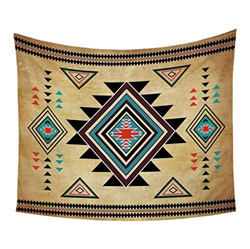 Qhrdp Copriletto Geometrico Arazzo Appeso A Parete Nativo Americano Nativo Americano Decorativo Art Copriletto Copridivano 150X200Cm