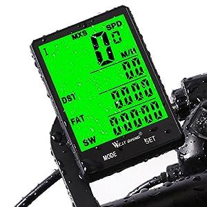 51 9 aFDFQL. SS300  - Fahrradcomputer Drahtlos Wasserdicht, 20 Funktionen LCD Geschwindigkeit Fahrradtacho Radcomputer Kilometerzähler Hintergrundbeleuchtung Tachometer (Kabellos & mit Kabel)