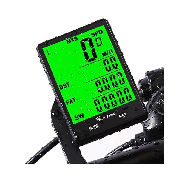 51 9 aFDFQL. SS600  - Fahrradcomputer Drahtlos Wasserdicht, 20 Funktionen LCD Geschwindigkeit Fahrradtacho Radcomputer Kilometerzähler Hintergrundbeleuchtung Tachometer (Kabellos & mit Kabel)
