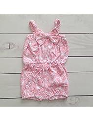 Combishort estampado en algodón, Modelo Barroco rosa 0/6Meses, 1/2años, 2/3años, 6/12Meses