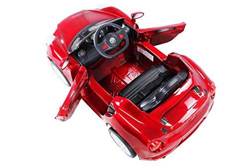 RC Auto kaufen Kinderauto Bild 4: Kinder Elektroauto ALFA Romeo 4c Lizenziert Original Kinderelektroauto Kinderfahrzeug Auto (Weinrot)*