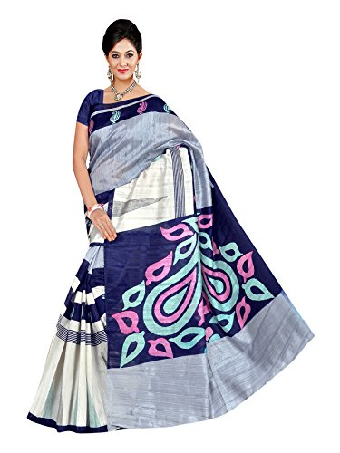 Winza Women's Bhagalpuri cotton Saree with Blouse (Wine)