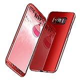 Samsung Galaxy S8 Hülle, 3 in 1 Ultra Dünner PC Harte Case 360 Grad Ganzkörper Schützend Anti-Kratzer Anti-dropping Schutzhülle für Galaxy S8 Plus (Samsung Galaxy S8 Plus, Red)