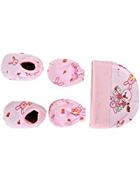 Poddar Fashion Square Krishnam Presents New Born Baby Baby's Premium Cotton Housiry Mittens/Hand Gloves/Muthi/to Keep Baby Hand Tender for Age 0 to 9 Months