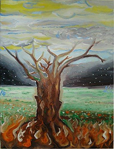 warloth.hel 'Weltesche Yggdrasil' - Ölfarben - Auf Leinwand gemaltes Unikat -...