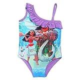 Maillot de bain VAIANA violet froufrou VAIANA (film Disney vaiana)