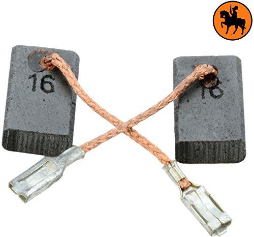 Kohlebürsten für BOSCH PWS 10-125 CE Schleifer -- 5x10x16mm -- 2.0x3.9x6.3'' -- Mit automatische Abschaltung