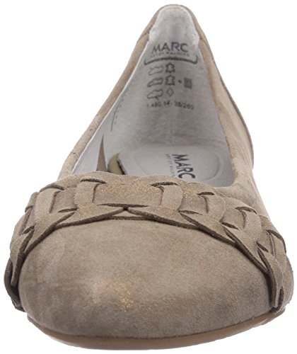 Marc Shoes 1.480.14-28/260-penelopez, Ballerines fermées femme Gris - Grau (taupe 260)