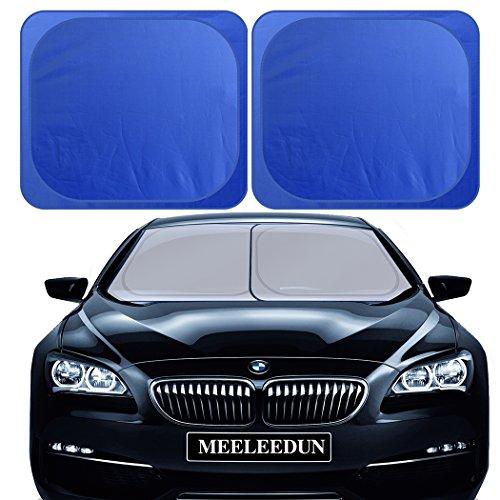 RELANSON parasol de parabrisas, dos plegable 89cmx79cm, alta densidad de tela de oxford, bloquea 98% de UV, mantiene el coche fresco, aptas para todos los modelos.