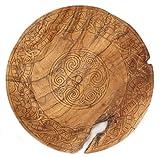 WINDALF Keltischer Servierteller COLEEN Ø 34 cm Celtic Art Handarbeit aus Wurzelholz