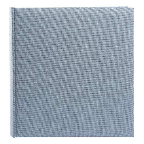Goldbuch Fotoalbum, Summertime Trend 2, 30 x 31 cm, 100 weiße Seiten mit Pergamin-Trennblättern, Leinen, Blau/Grau, 31607