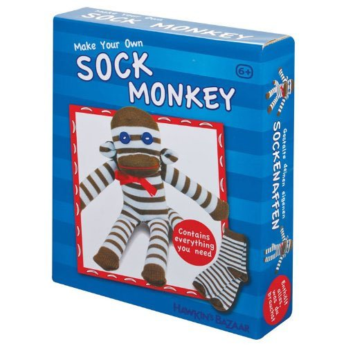 Tobar Bastelset Make Your OWN Sock Monkey (Ein Monkey Sock)
