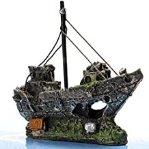 rosenice Pirate barco para Acuario Pesca pantalón pirata para decoración paisaje ...