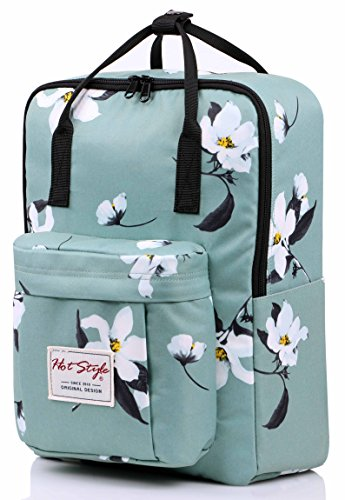 hotstyle-convertible-floral-backpack-for-girls-waterproof-fits-14-inch-laptop-green