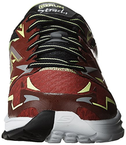 Skechers  Go Run Strada, Chaussures de running pour homme Rouge / Jaune (Red/Lime)