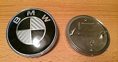 Tall Elephant Logo BMW, Carbonfaser, 13567 ReiheZ3X6X5Motorhauben-Logo, 82mm,