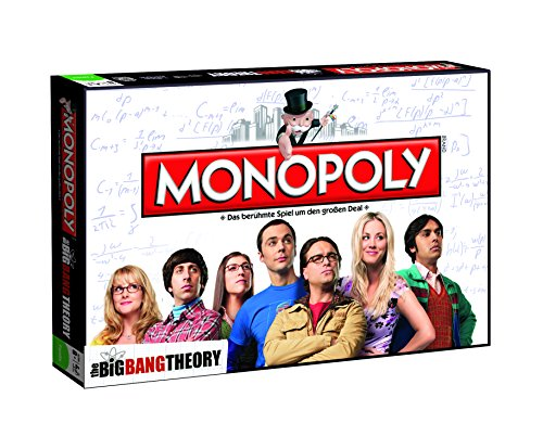 Monopoly The Big Bang Theory Edition mit 7 exklusiven Sammler-Figuren - Der Brettspiel-Klassiker trifft auf die Alltags-Helden aus dem TV (Deutsch) - Bang Spiel