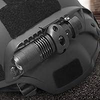 LEYU Casco con clip para linterna, con batería recargable flash para casco, accesorio para casco al aire libre, para ciclismo, para uso al aire libre, camping, espeleología