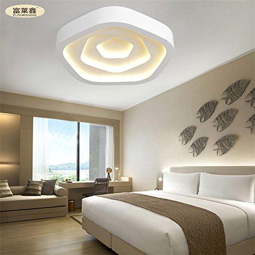 Rose onde camera da letto moderna terrazza ristorante minimalista Ferro acrilico ha condotto l'alimentazione 24-36w soffitto , yellow , 55cm*36w