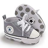 Babycute Zapatos de Lona para bebés Zapatillas de Deporte Zapatillas de Deporte Casuales de Suela Blanda niñas de bebés Zapatos de Primeros Caminantes con Cordones