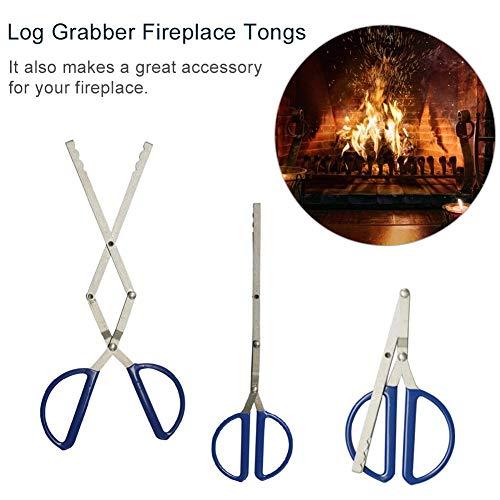 greatdaily Faltbare Metall Schere Log Grabber, Hitzebeständiger Griff, Nicht Heiß Für Lagerfeuer/Kamin/Grill/Camping Werkzeug -