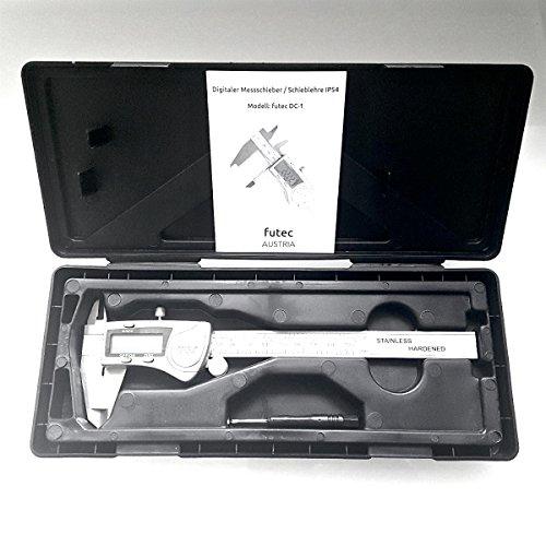 futec – Digitaler Messschieber, Spritzwasser geschützt, Aufbewahrungsbox - 5