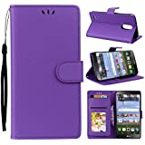 LG K10 (2018) Case, LG K10 (2018) Cover Thin Flip Cover Case Appears Accessories Phone Case For LG K10 (2018) By Meroollc (Purple)
