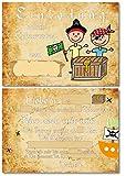 12 Einladungskarten für Kindergeburtstag Pirat/Piraten-Geburtstag/Schatzsuche / Format DIN A6