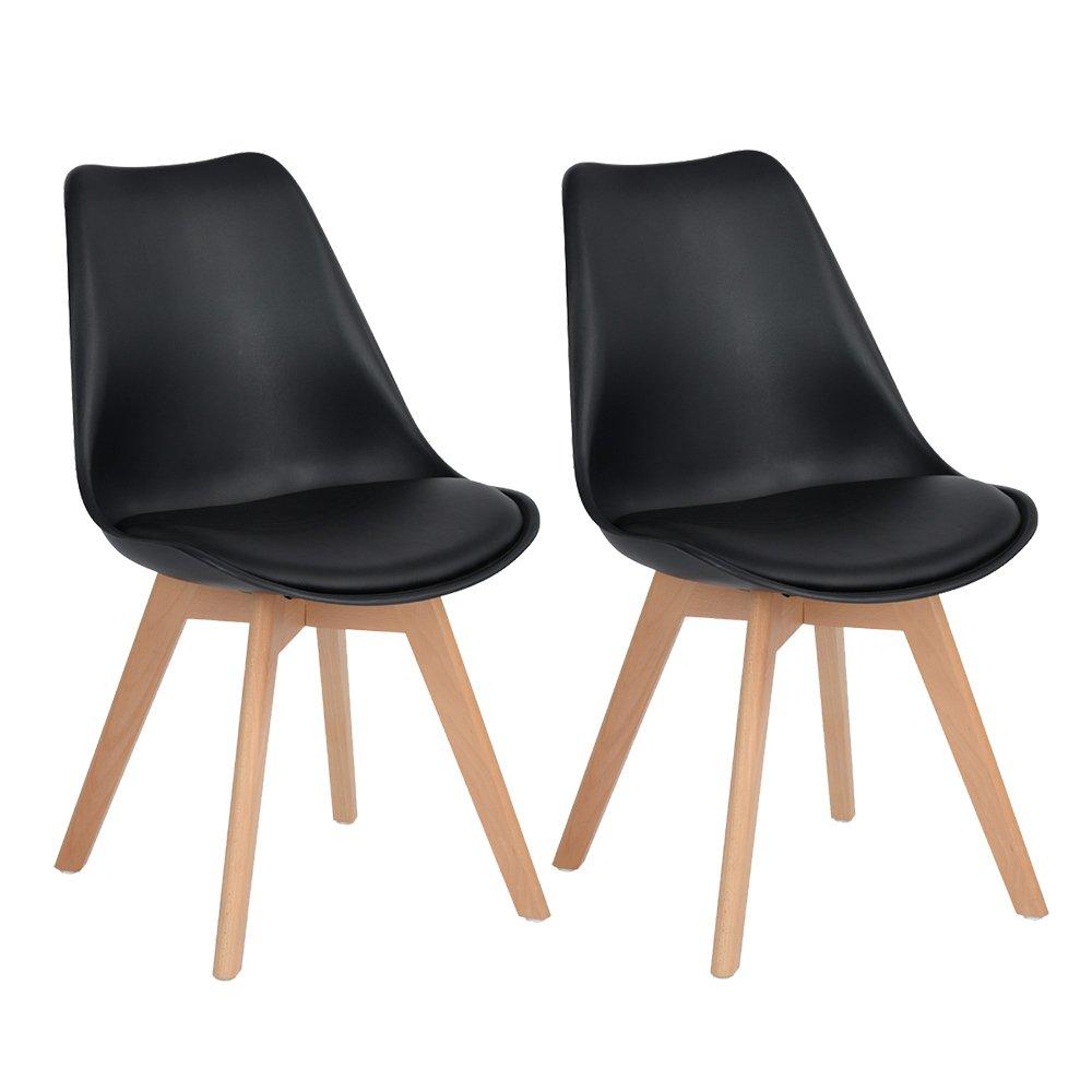 Eggree tulip comedor silla de oficina con las piernas de for Sillas de oficina de madera